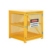 Steel Gas Cylinder Storage Cages , Lpg Gas Bottle Storage Cages 139 LBS Weight