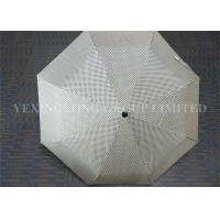 "Buy cheap 21.5""*8K 190T Pongee Auto Open Close Umbrella Windproof Travel Umbrella White product"