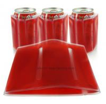 Buy cheap Customized PVC Wine Bottle Carrier Bag , Logo Printed Bottle Cooler Bag product