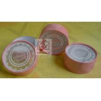 Buy cheap Customised Pink Cardboard Canister Packaging With Plastic Jar product
