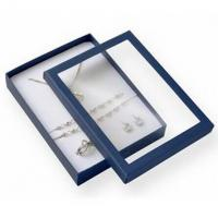 Buy cheap Premium Jewelry Paper Boxes Big Set Transparent Window For Necklace Packaging product