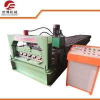 Professional Wall Panel Roll Forming Machine , Roof Tile Making Machine With Pre Cutter