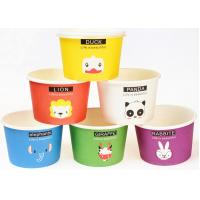 Buy cheap Eco Friendly Custom Branded Ice Cream Cups Disposable With Spoons And Lids product