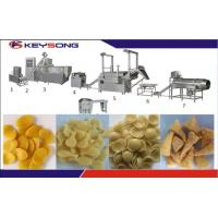 Buy cheap 100kg/H Fried Crispy Bugles Snack Food Extruder Machine , Extrusion Snacks Food Machinery product