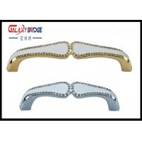 Gold Plated Crystal Door Pulls And Knobs 96mm