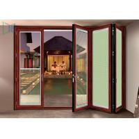 Quality Double Glazed Aluminium Folding Doors Soundproof Energy Saving With Built In Blinds for sale