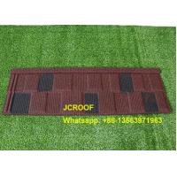 Buy cheap Wine / Black And White Shingle Stone Coated Steel Roof Tile For Building Material product