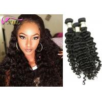 Washable Malaysian Deep Wave Virgin Hair Weaves Last 2 Years , Difference Length