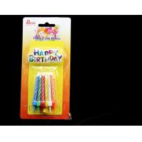 Buy cheap Colorful Spiral Glitter Birthday Candles For Cake Decorations No Somke SGS Approval product