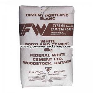 Poland Cement / Block Bottom Kraft Paper Valve Sacks Mineral Packing PP Woven Bags