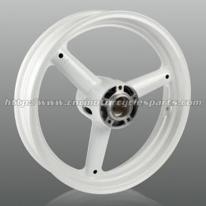 Buy cheap Three Spoke Cut Custom Motorcycle Wheels , High Performance Aluminum Alloy Wheel Rims from wholesalers