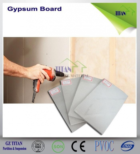 Quality 1220*2440mm Exterior Grade Thickness Cartons Gypsum Board Sizes for sale