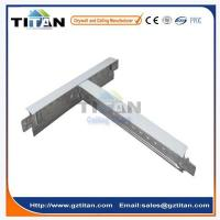 Buy cheap Galvanized Steel T24 Flat T Bar Suspended Ceiling T Grid Components product