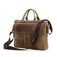 Buy cheap China factory wholesale brown leather business laptop bag briefcase for man product