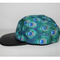 Buy cheap 2016 fashion blue peacock feathers cotton and polyester camper cap product