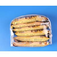 Buy cheap D shape clear pvc bag with zip closure product