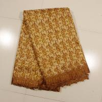 Buy cheap Sign Organza Lace Fabric , Coffee 4 - 5kgs Weight product