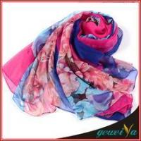 Buy cheap Scarf In Stock Of Soft New Digital Printed Chiffon Scarves product