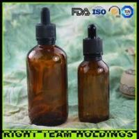 New Product 60ml 120ml amber glass oil bottle with childproof tamper evident cap