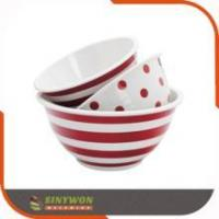 Hot Selling 3PCS Customize Printed Plastic Mixing Bowl Set