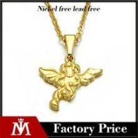 Buy cheap Simple design stainless steel gold pendant jewelry angel wing necklace for women product