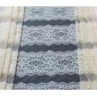 Buy cheap Eyelash Elastic Lace Fabric White / Flower Allover Lace Fabric CY-DK0036 product