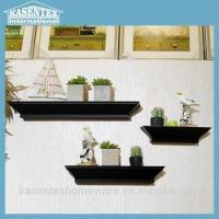 Buy cheap Black Three-piece Wooden Wall Mounted Rack from wholesalers