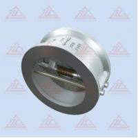 dual double disc swing check valve