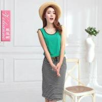 Buy cheap New arrival 2013 color block stripe sleeveless vest one-piece dr product