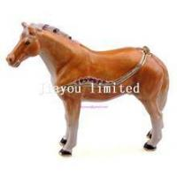 Buy cheap TBP0014Y-horse trinket jewelry box horse figurine statue metal home decor product