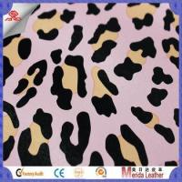 Buy cheap New style multicolor leopard pattern brush backing imitation leather for bags product