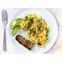 Scrambled Eggs with Matcha and Lime