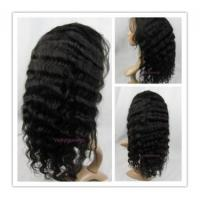 Buy cheap Summer lace front deep wave 16 inch color 1b Indian remy hair- LFW15 product