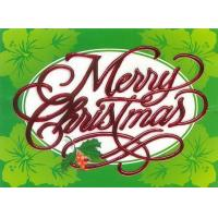 Christmas Cards - Coral Cards - CF1327 / Green Hibiscus
