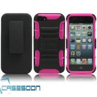 Buy cheap Hard Silicone HOLSTER KICKSTAND Case for Apple iPhone 5 5G product