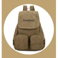 Buy cheap Popular Waxed Canvas Backpack for Girls, Fashionable Casual Gear Backpack Factory Price product