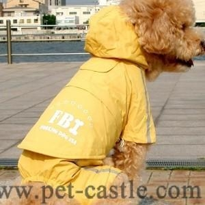 Quality FBI Hoodie Raincoat - Yellow FBI Hoodie raincoat with trousers for sale