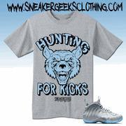 HUNTING FOR KICKS T-Shirt to match Foamposite One Wolf Grey