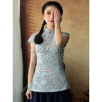 Oriental Hibiscus Flower Women Blouse