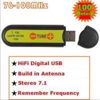 USB FM transmitter wireless sound card stereo 7.1 channel 100meters