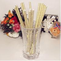 Paper straw Party and festival chevron paper straws in various colors